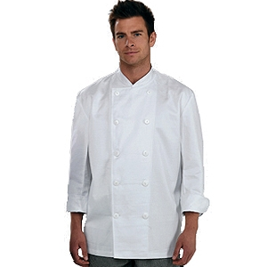 DD04E White L/S Chef Jacket