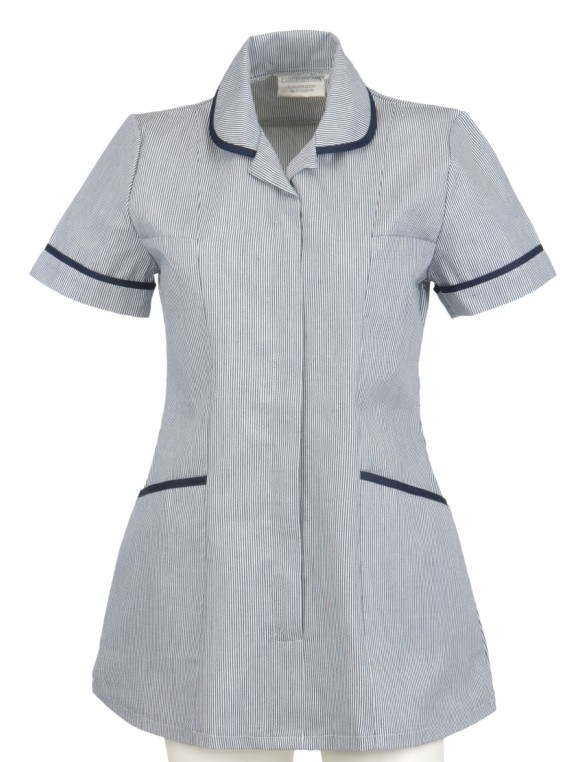 B805 Ladies Navy Striped Step In Tunic